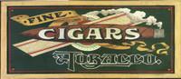 Vintage Fine Cigars Rustic Sign