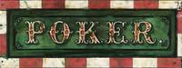 Vintage Poker Sign