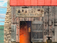 Vintage Blacksmith Sign