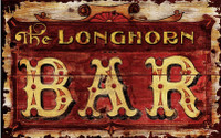 Vintage Longhorn Bar Sign