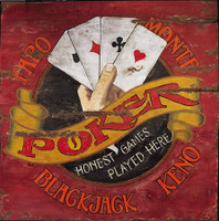 Vintage Faro & Poker Sign