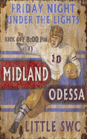 Vintage Under the Lights Football Sign