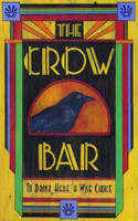 Vintage Crow Bar Sign