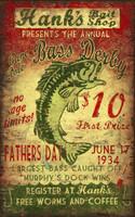 Vintage Sign - Bait Fishing Derby