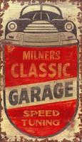 Vintage Milner's Auto Mechanic Sign