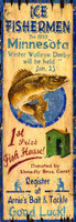Vintage Ice Fishing Sign
