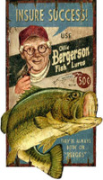 Vintage Ollie Bass Fishing Sign