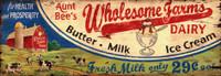 Vintage Aunt Bee Dairy Sign