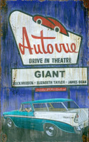Vintage Auto Vue Drive In Sign