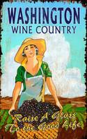 Vintage Grape Harvest Wine Country Sign