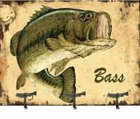 Vintage Bass Coat Rack Sign