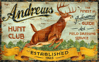 Vintage Hunt Club Sign