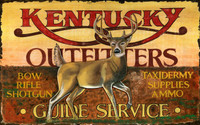 Vintage Kentucky Outfitters Hunting Sign