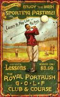 Vintage Irish Golf Sign