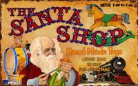 Vintage Santa Shoppe Sign