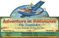 Vintage Paradise Tours Sign