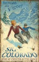 Vintage Ski Colorado Sign