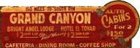 Vintage Grand Canyon Sign