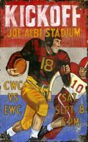 Vintage Kickoff Sign