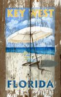 Vintage Beach Umbrella Sign