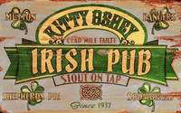 Vintage Irish Pub Stout Sign