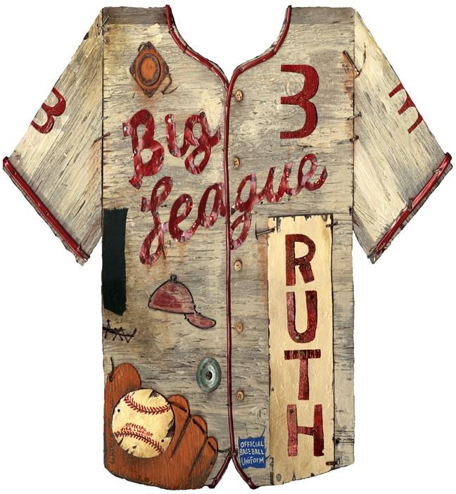 Vintage Baseball Jersey Sign Rustic Baseball D 233 Cor