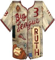 Vintage Baseball Jersey Sign