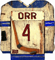 Vintage Hockey Jersey Sign
