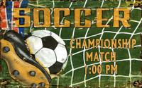 Vintage Soccer Room Sign