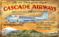 Vintage Cascade Airways Sign