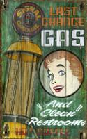 Vintage Last Chance Gas Station Sign