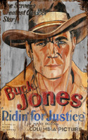 Vintage Buck Jones Movie Sign