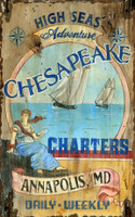 Vintage Chesapeake Charter Sign