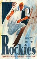 Vintage Rockies Skiing Sign