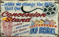 Vintage Concessions Sign