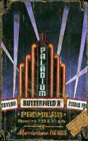 Vintagae Palladium Movie Theater Sign