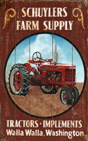 Vintage Farm Tractor Sign