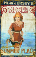 Vintage Jersey Shore Sign