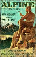 Vintage Hiking Rockies Sign