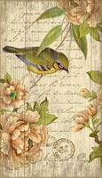 Vintage Bird Sign - Left Side Placement