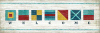 Vintage Nautical Welcome Sign Sailing signal flags