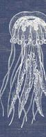 Vintage Denim Jellyfish Sign
