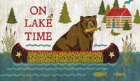 Vintage On Lake Time Sign