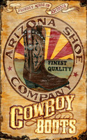Vintage AZ Cowboy Boot Sign