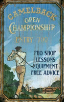 Vintage Camelback Golf Sign
