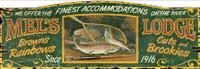 Vintage Mel's Lodge Sign