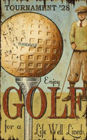 Vintage Enjoy Golf Sign