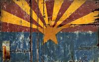 Vintage Arizona Flag Sign