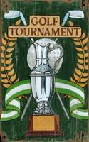 Vintage Golf Trophy Sign