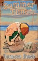 Vintage Boy on the Beach Sign